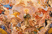 istock Granada - St. Bruno and glory of Eucharist fresco 478271276