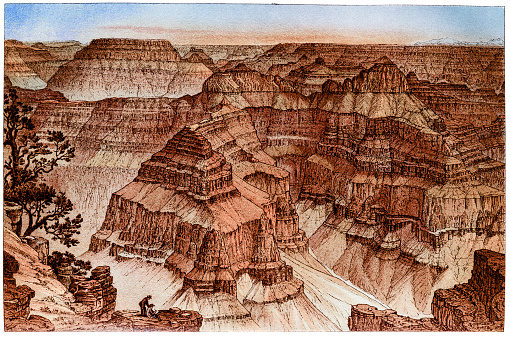 Illustration of a Grand Canyon