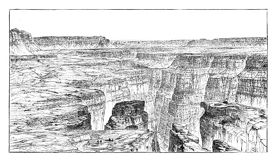 Grand Canyon - Scanned 1884 Engraving