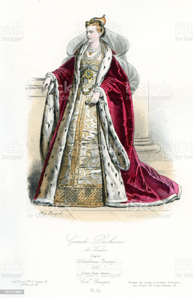 Grand Duchess of Venice royalty-free grand duchess of venice stock vector art & more images of 16th century