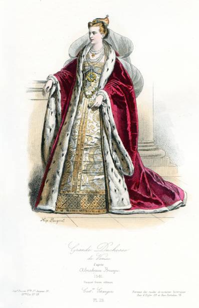 illustrazioni stock, clip art, cartoni animati e icone di tendenza di granduchessa di venezia - alta moda italy