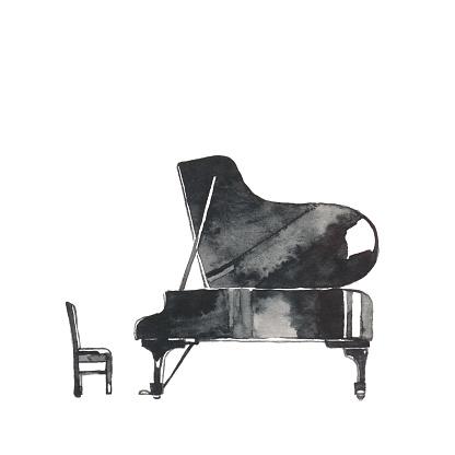 Grand piano The material of the black grand piano