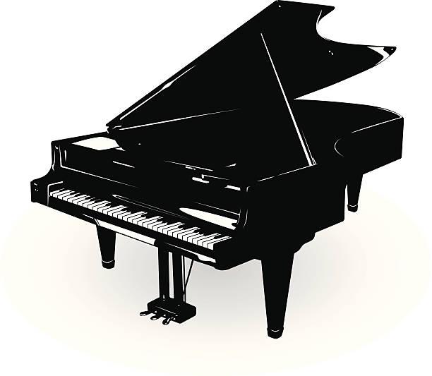 grand piano - piano stock illustrations