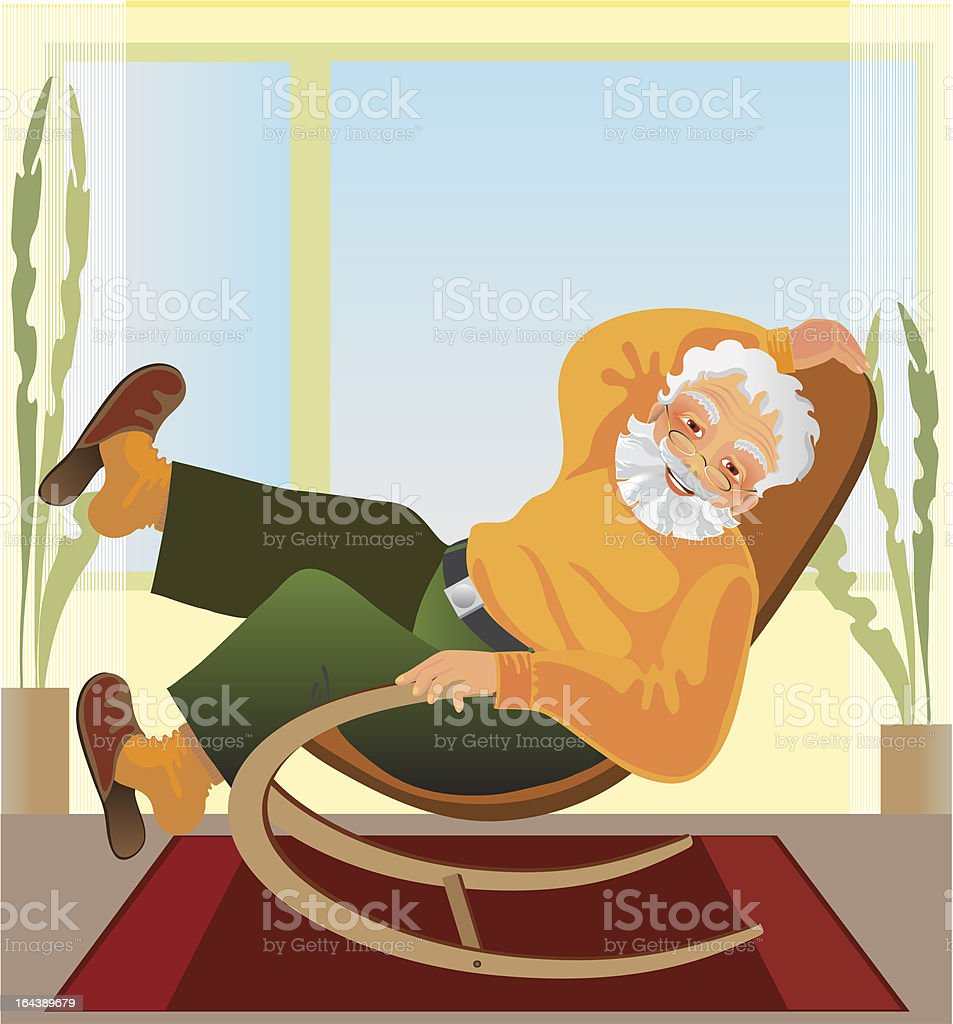 grandfather royalty-free stock vector art