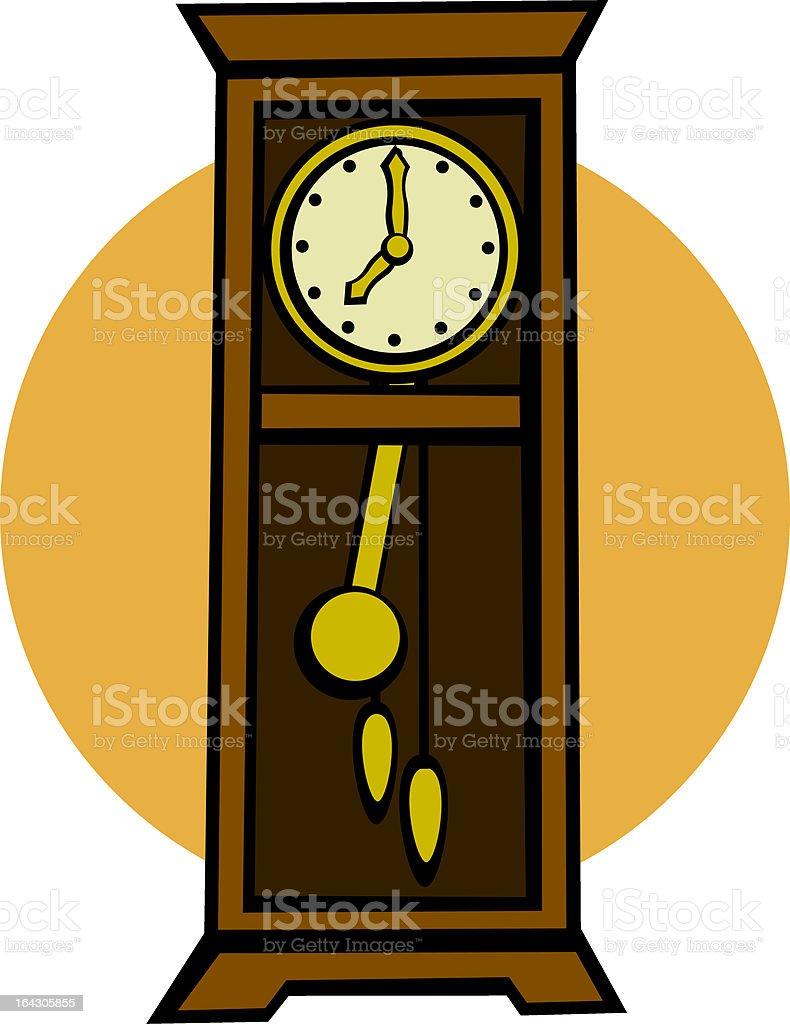 grandfather pendulum clock royalty-free stock vector art