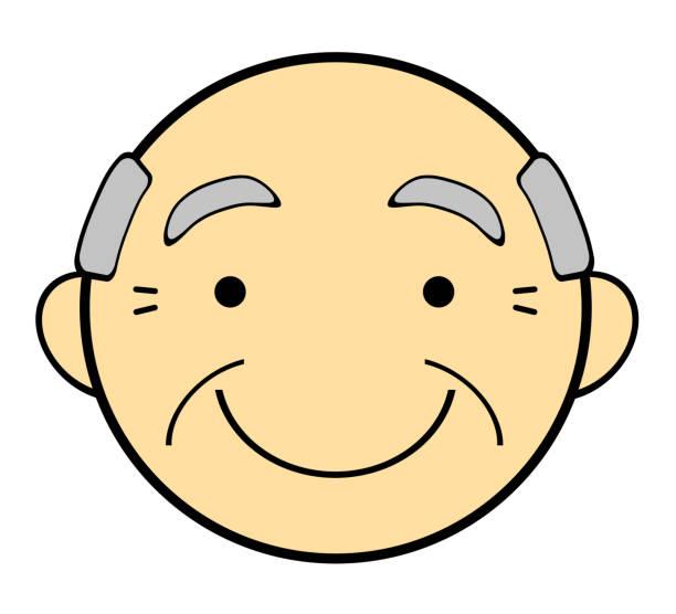 ilustraciones, imágenes clip art, dibujos animados e iconos de stock de el rostro del abuelo - abuelos