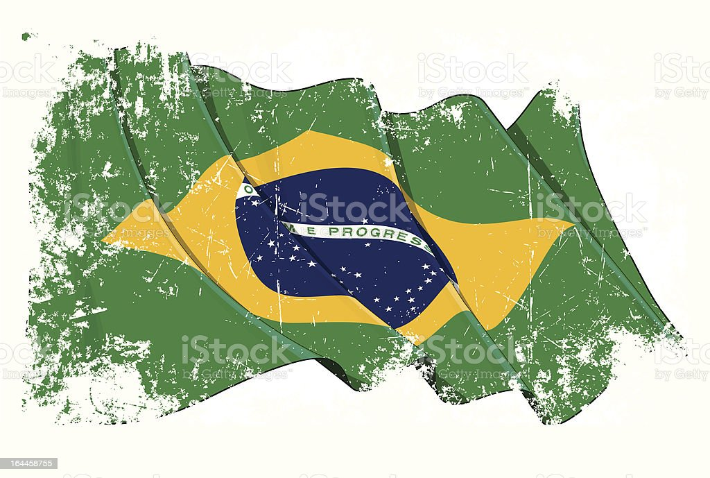 Grange Flag of Brazil vector art illustration