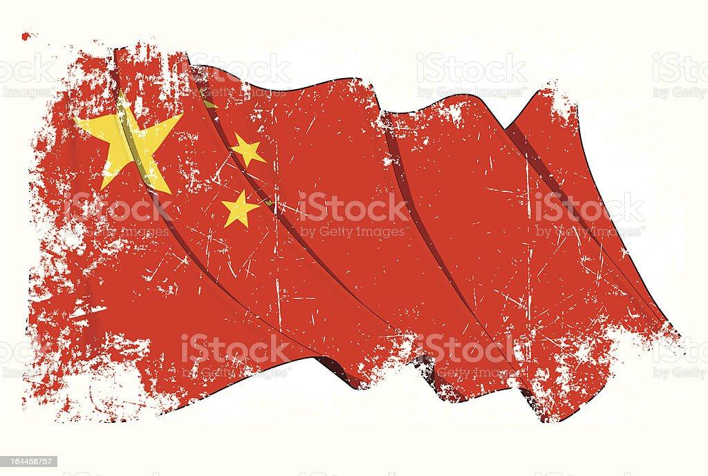 Grange Flag of China vector art illustration