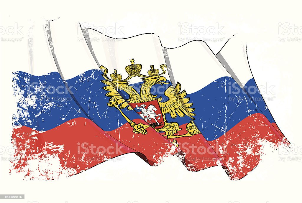 Grange Flag of Russia royalty-free grange flag of russia stock vector art & more images of blue