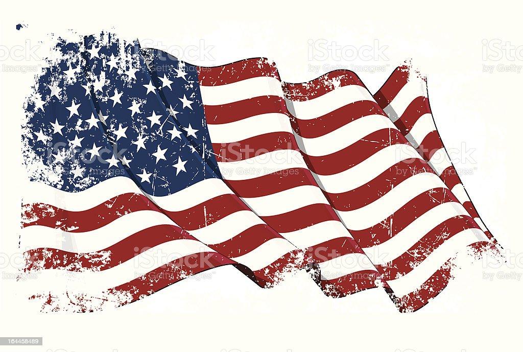 Grange Flag of USA vector art illustration