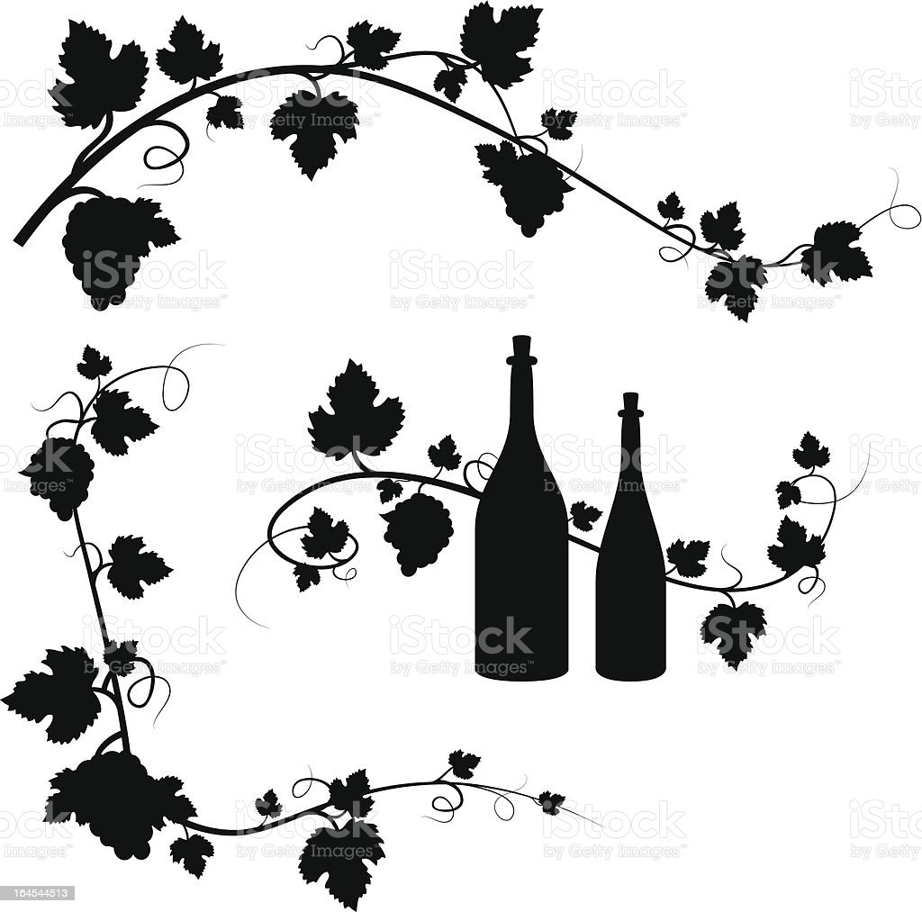 Grape And Wine Decorations Stock Illustration Download