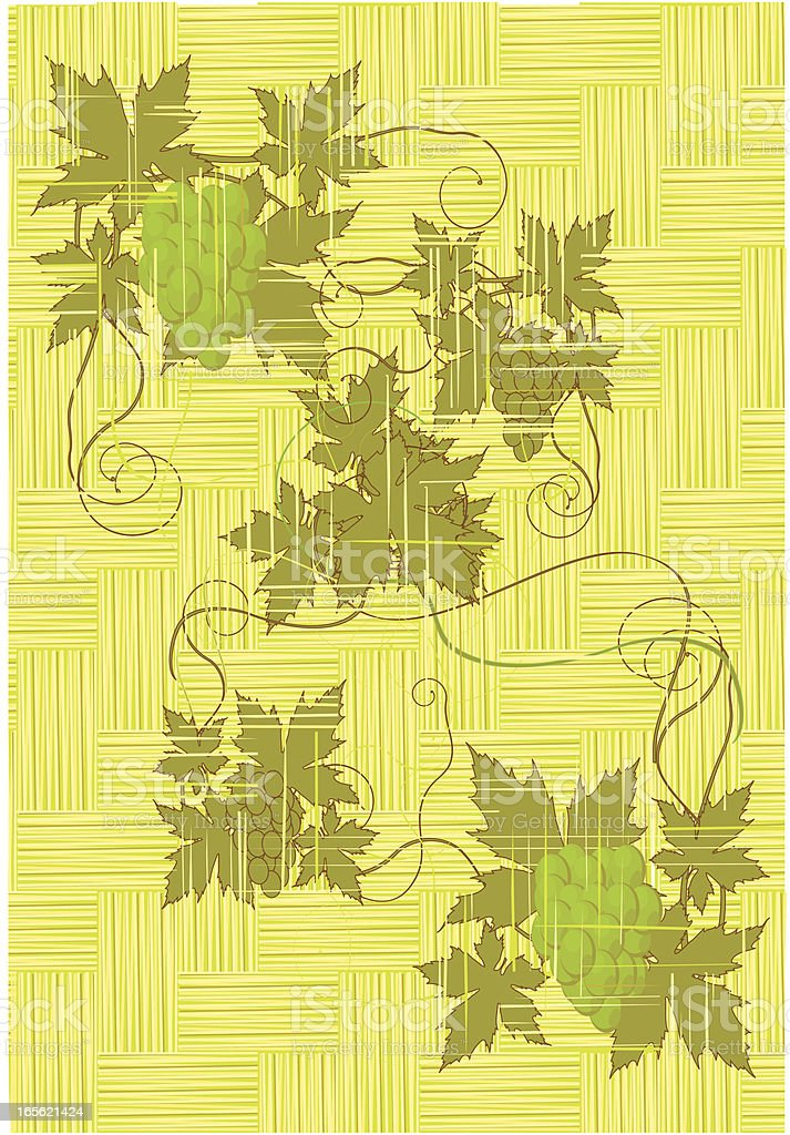 grape vine on the wickenwork bamboo royalty-free grape vine on the wickenwork bamboo stock vector art & more images of arts culture and entertainment