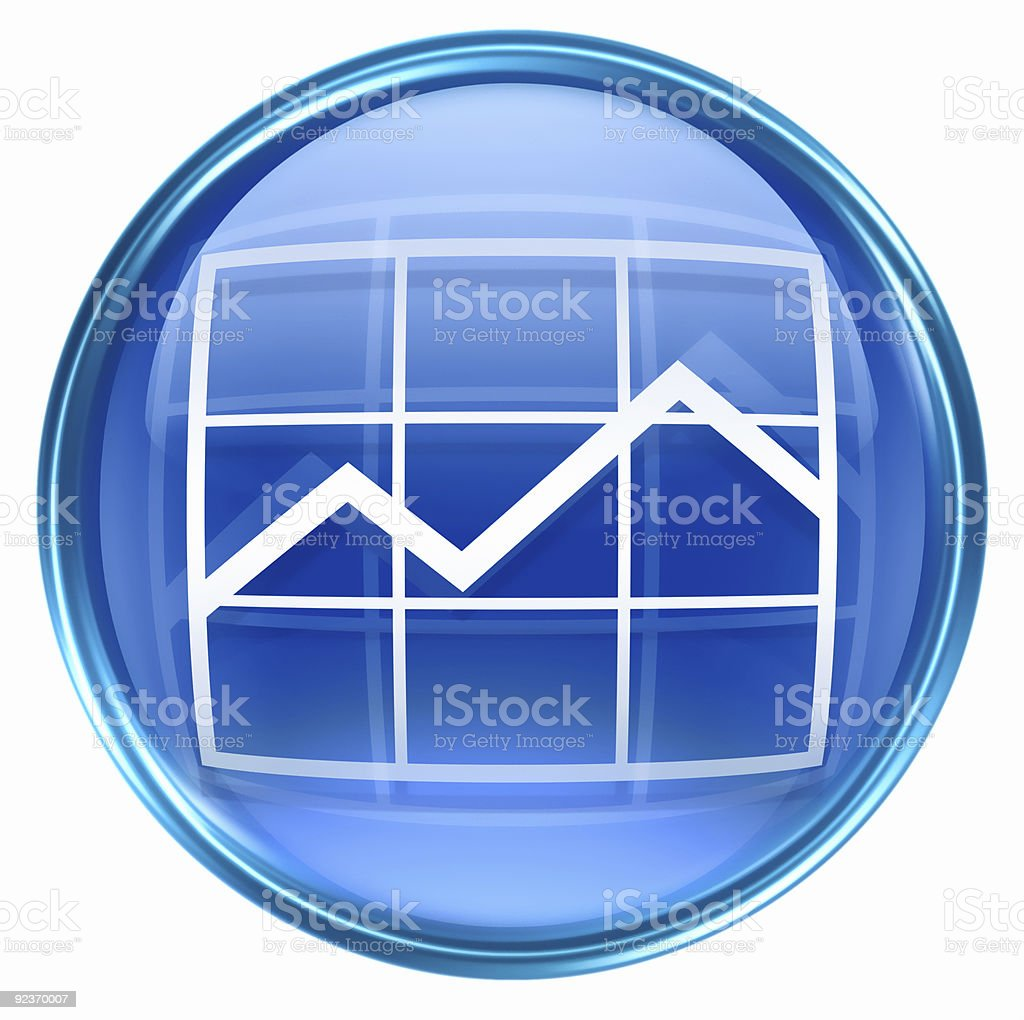 Graph icon blue, isolated on white background. royalty-free graph icon blue isolated on white background stock vector art & more images of arrow symbol