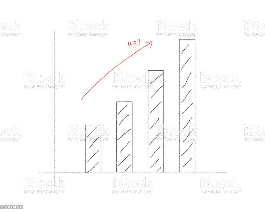 グラフ vector art illustration