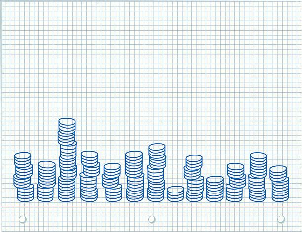Graph paper vektorkonstillustration