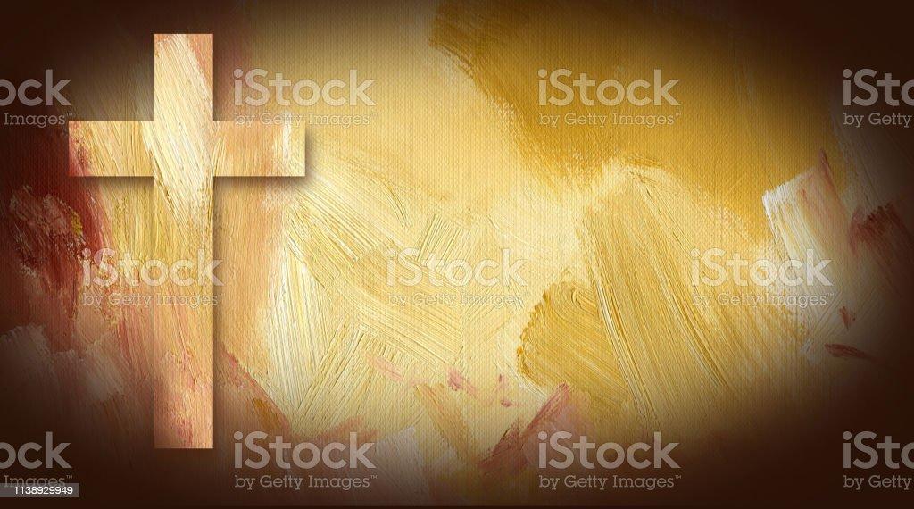 耶穌抽象背景的圖形基督教十字架 - 免版稅優美插圖檔