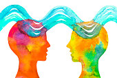 istock Graphic drawing On the same wavelength. Empathy. 1187590257