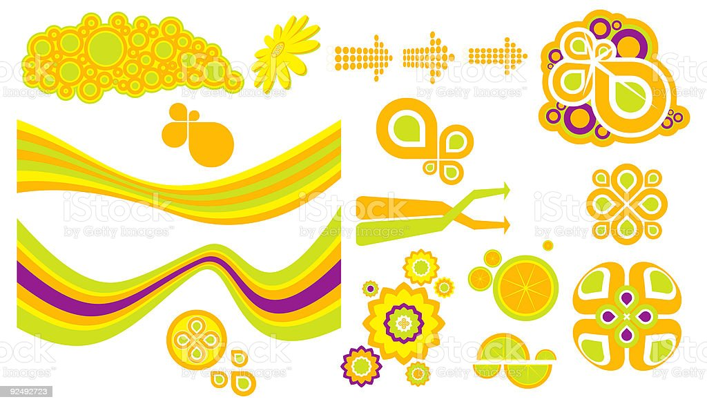 Graphic Elements 1 (Vector) vector art illustration