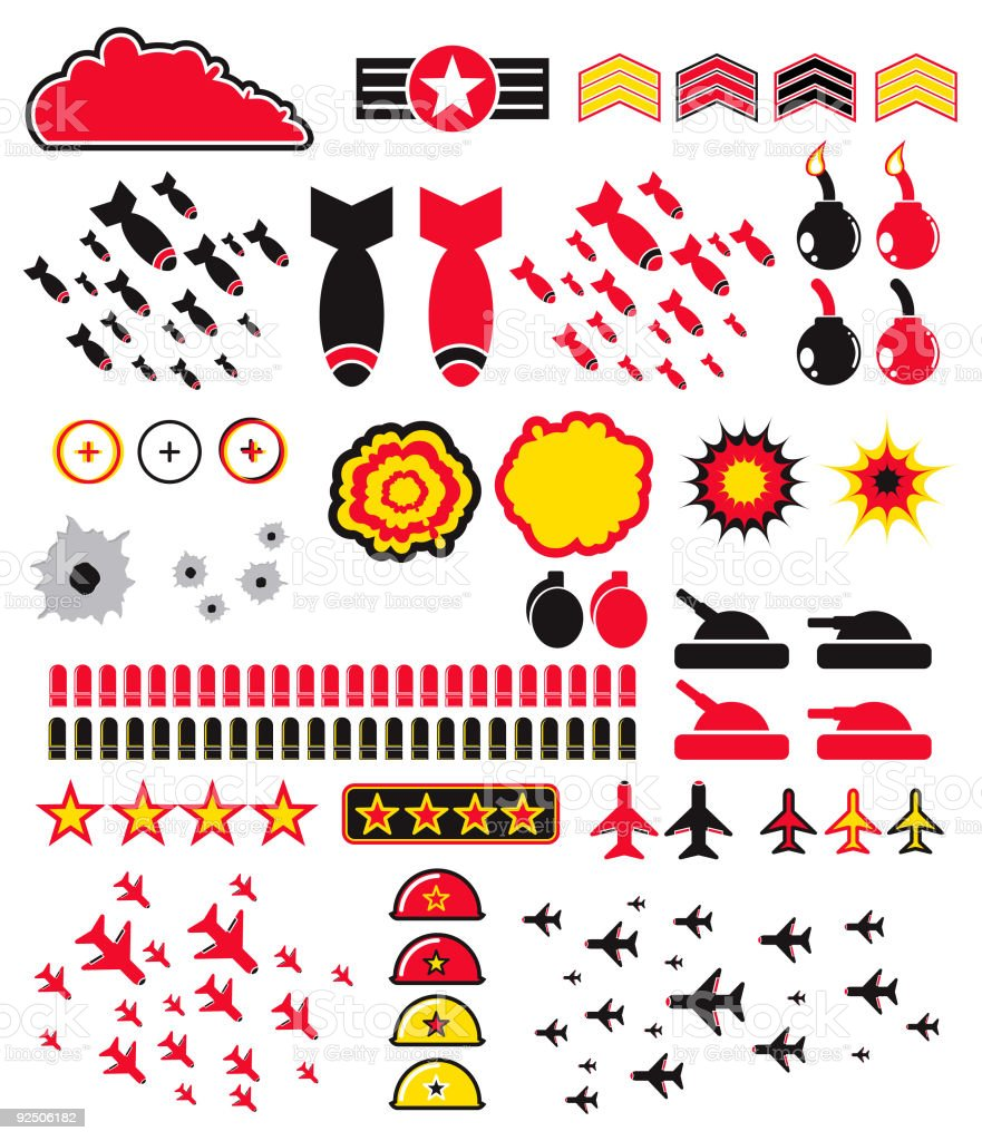 Graphic Elements 2 (Vector) royalty-free graphic elements 2 stock vector art & more images of aggression