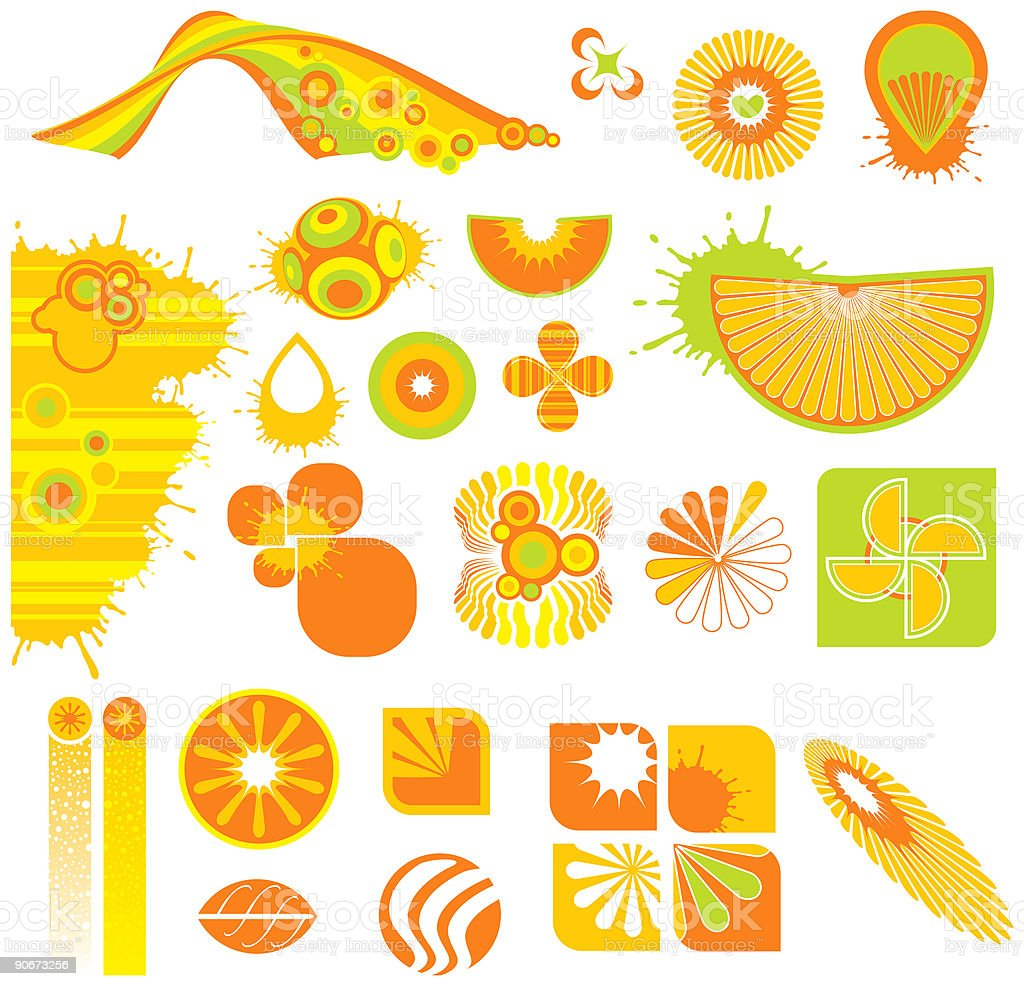 Graphic Elements 8 (Vector) vector art illustration