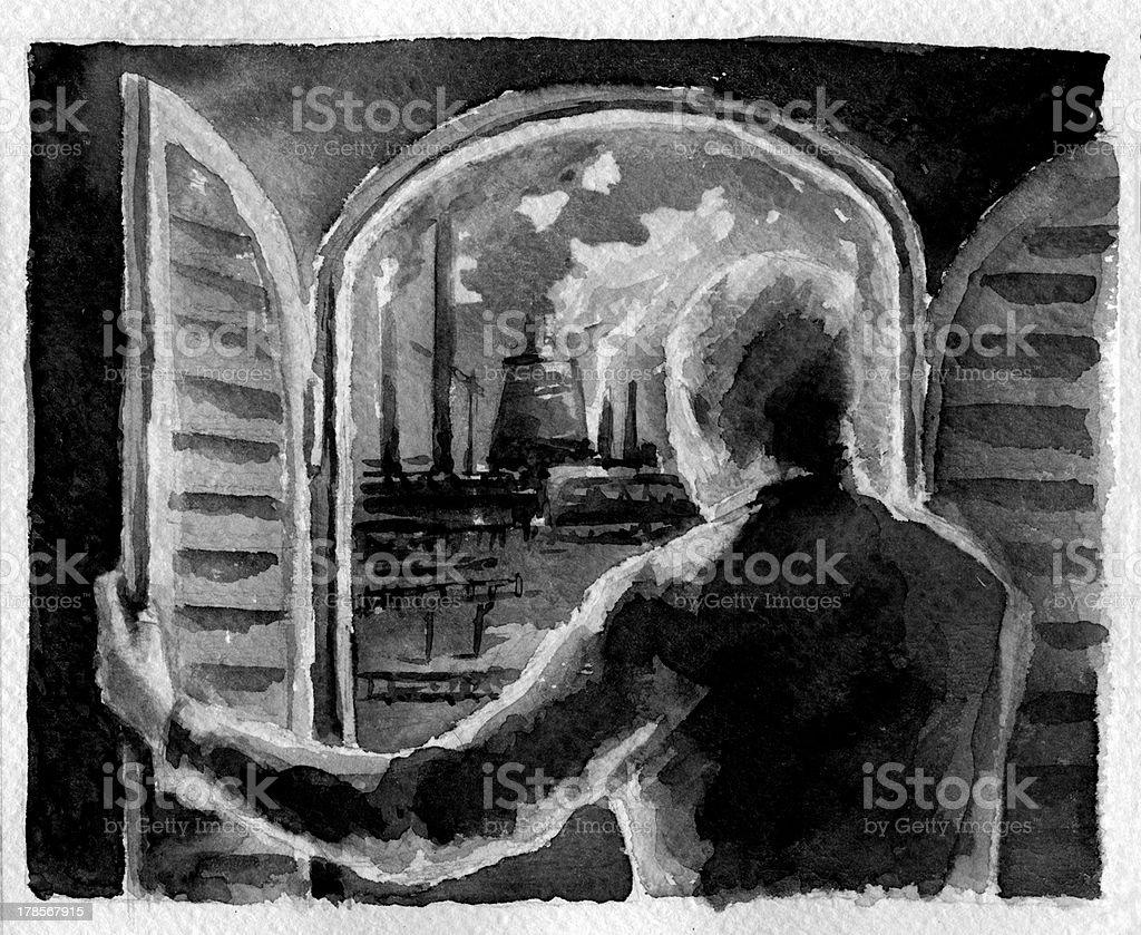 Graphic novel illustration, part fourteen royalty-free stock vector art