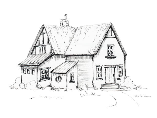 Drawing Of The Old Barn Door Clip Art Vector Images Illustrations