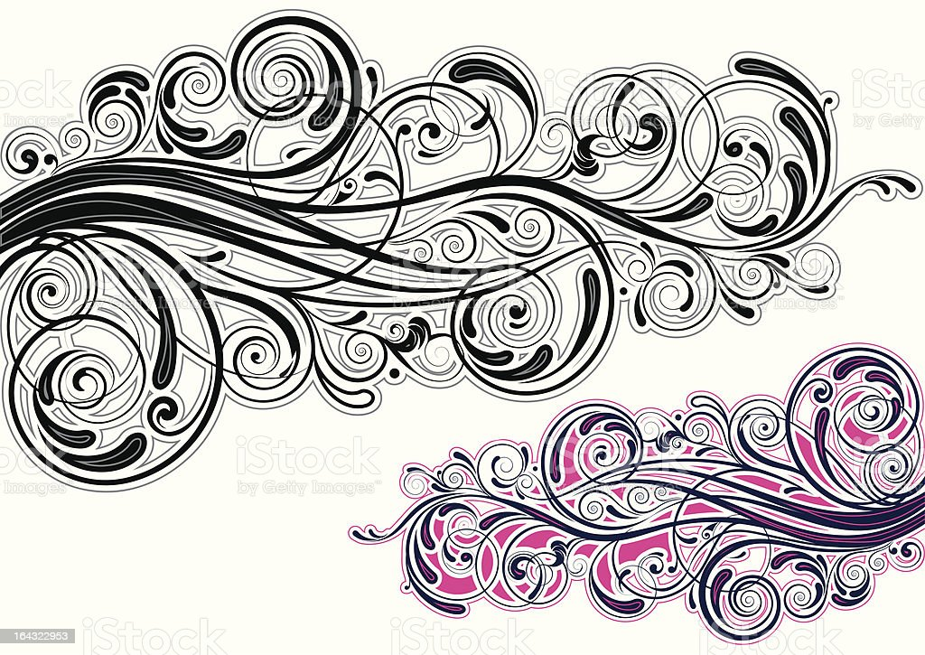 Graphic swirl design royalty-free stock vector art