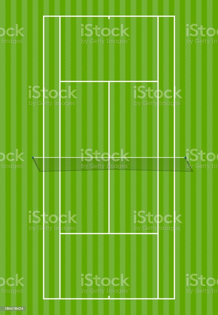 Grass court vector art illustration