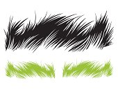 Grass drawing. Vector illustration.