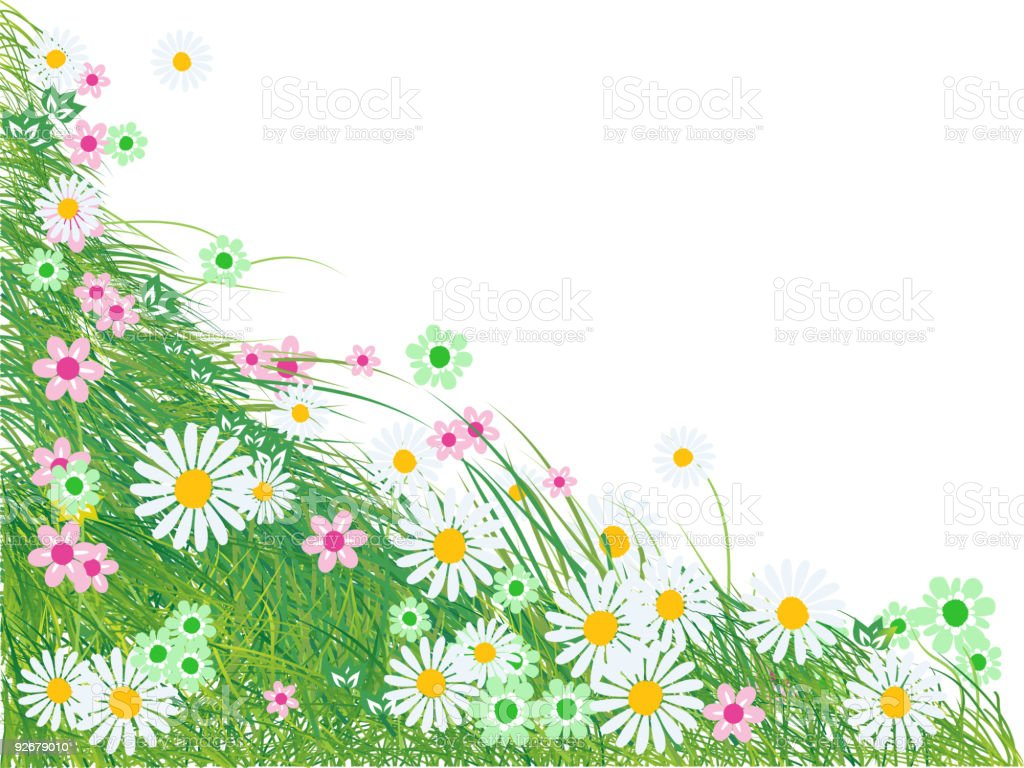 Grass silhouette green, summer background royalty-free stock vector art
