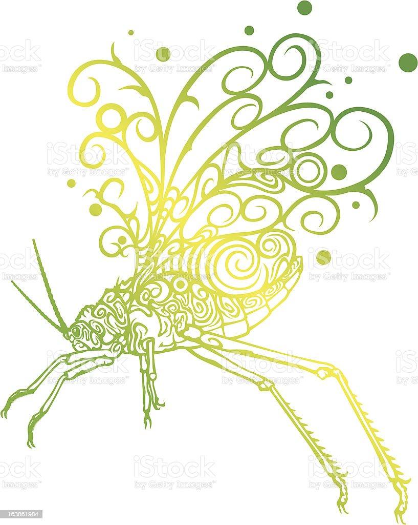 Grasshopper explosion royalty-free stock vector art