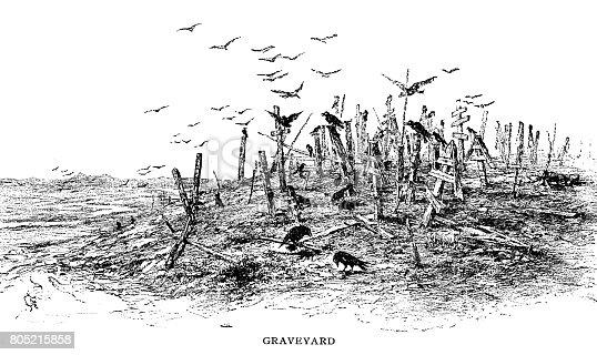 Graveyard - Scanned 1888 Engraving