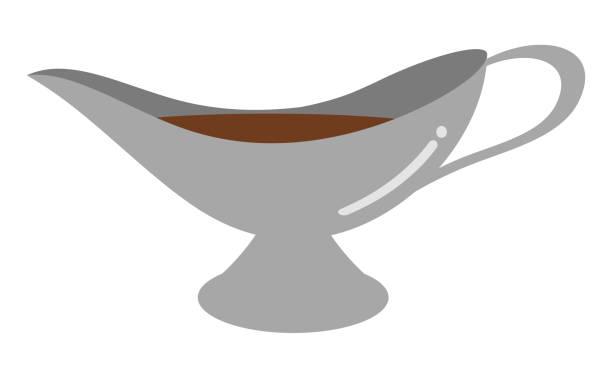 グレービーボート - カレー点のイラスト素材/クリップアート素材/マンガ素材/アイコン素材