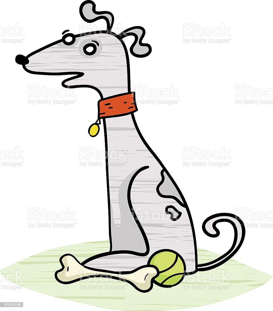 Gray Dog royalty-free gray dog stock vector art & more images of alertness