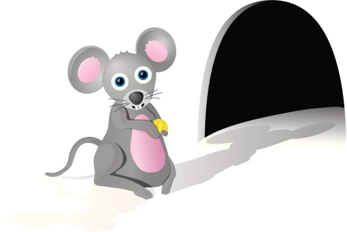 Gray Mouse with Cheese
