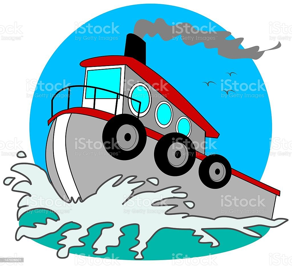 Gray Tugboat royalty-free gray tugboat stock vector art & more images of cartoon