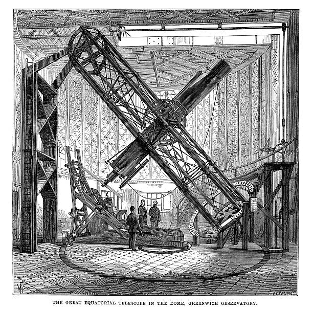 great equatorial telescope - astronomy telescope stock illustrations