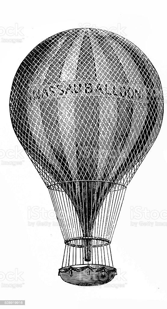 Great Nassau balloon vector art illustration