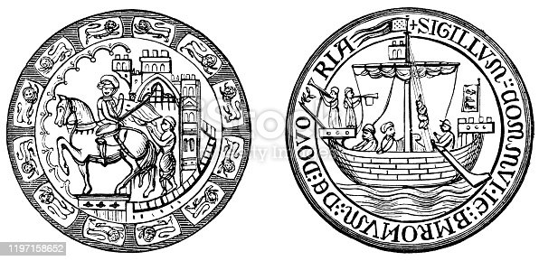 istock Great Seal of Dover - 19th Century 1197158652
