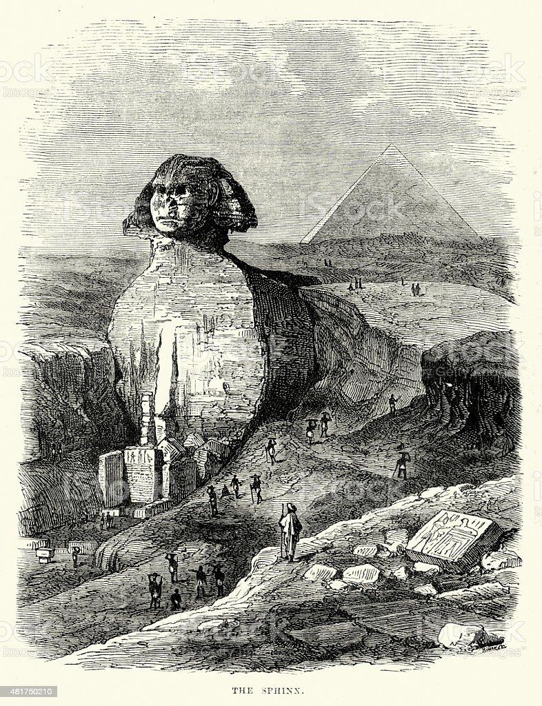 Great Sphinx of Giza vector art illustration