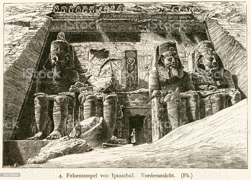 Great Temple at Abu Simbel, Egypt vector art illustration