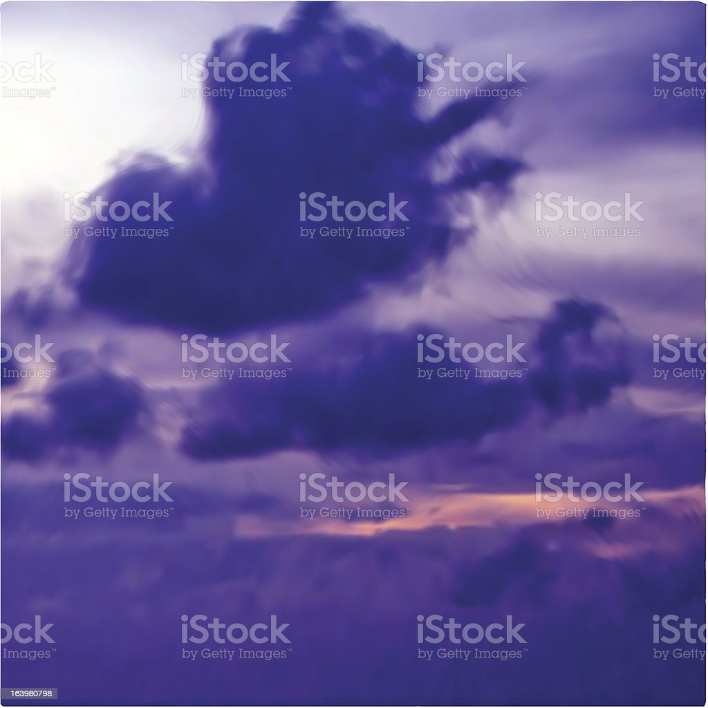 Great violet sunset sky with clouds. Vector royalty-free great violet sunset sky with clouds vector stock vector art & more images of abstract