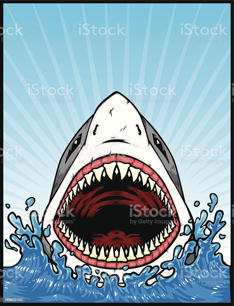 great white attack royalty-free great white attack stock vector art & more images of aggression
