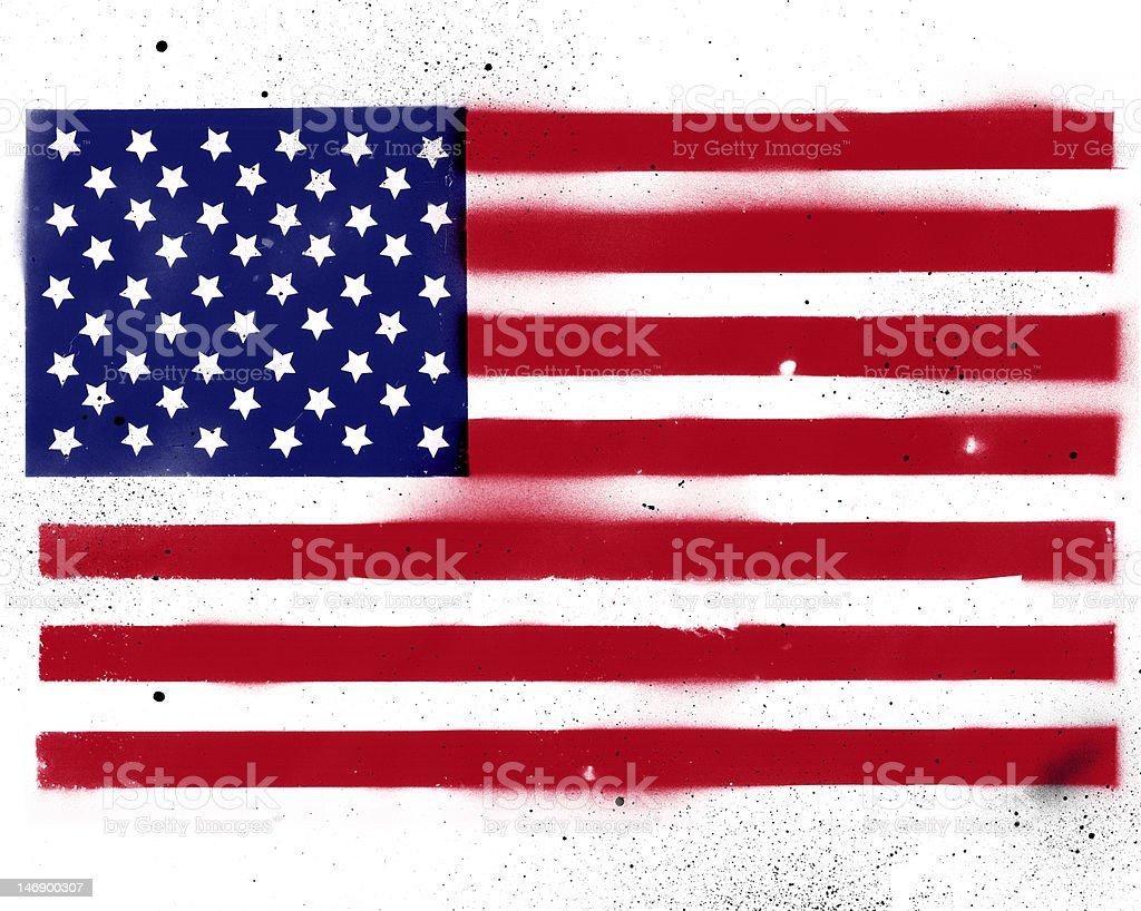 Greatest American Flag Stencil vector art illustration