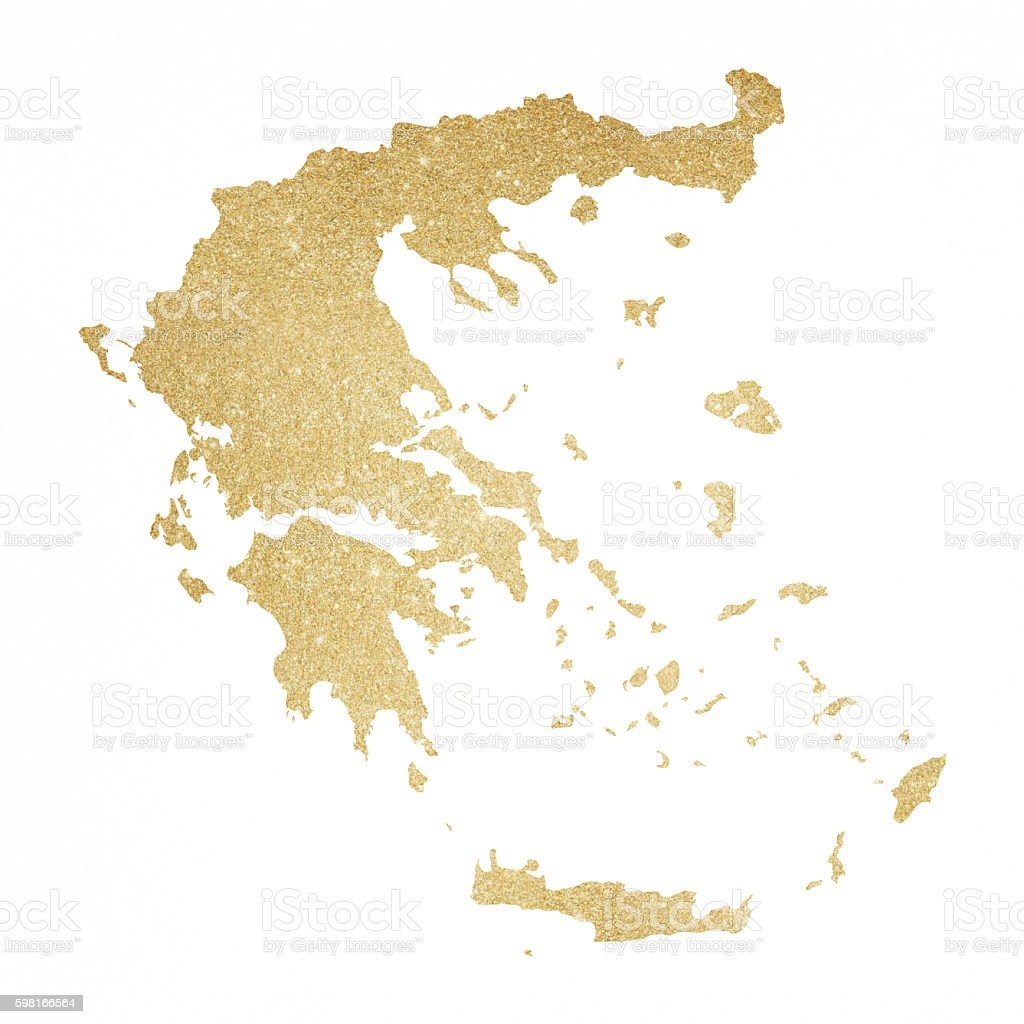 Greece gold glitter map stock vector art more images of back lit greece gold glitter map royalty free greece gold glitter map stock vector art amp gumiabroncs Images