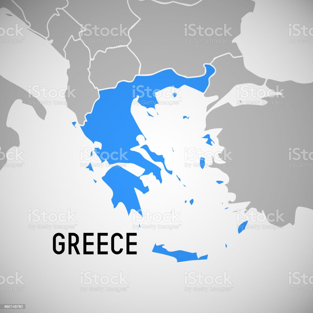 Karta Europa Grekland.Grekland Karta Vektorgrafik Och Fler Bilder Pa Bla Istock