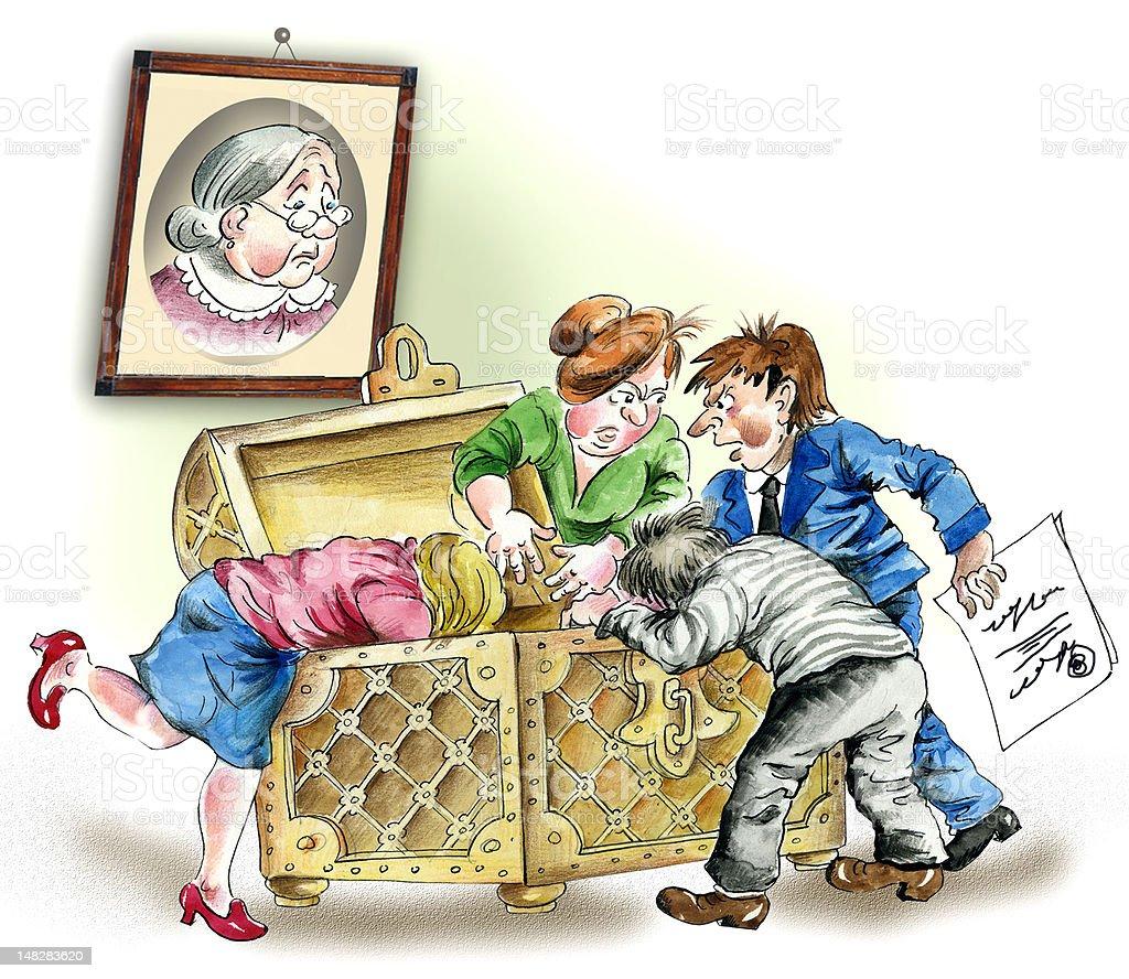 Greedy Successors vector art illustration