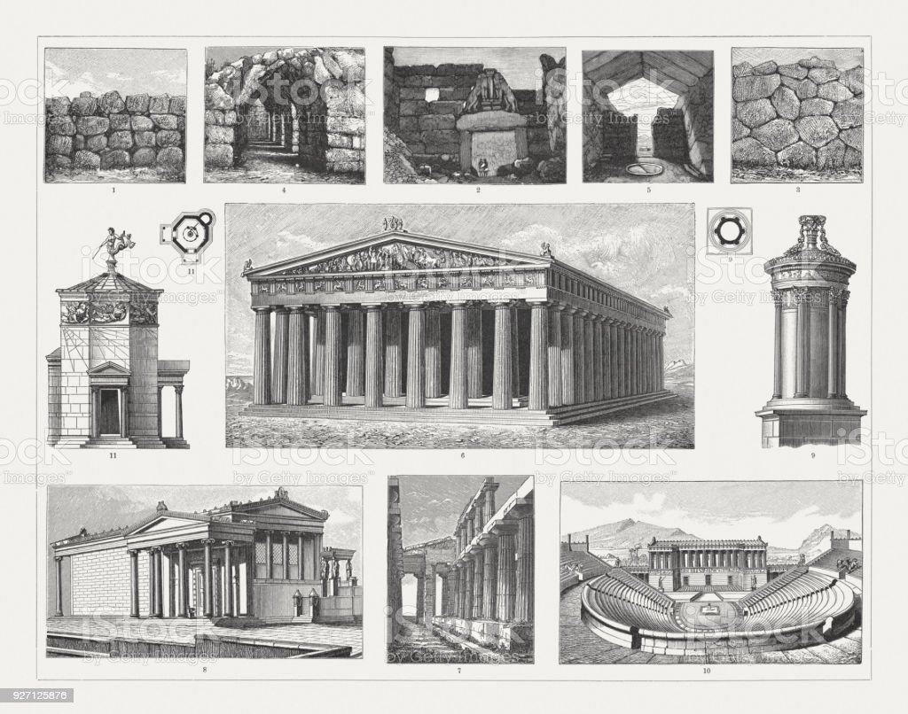 Arquitectura griega emngravings madera publicado en 1897 for Imagenes de arquitectura