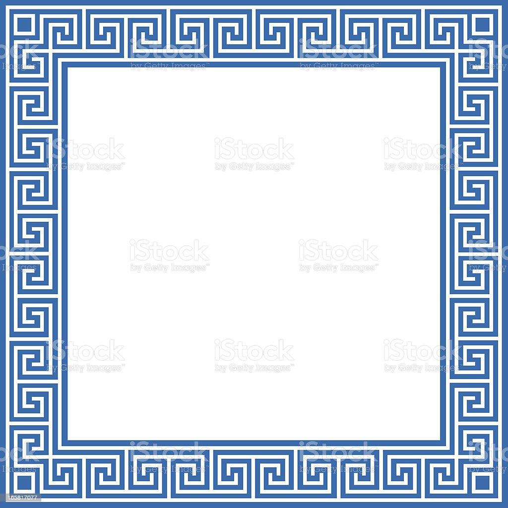 greek border vector art illustration