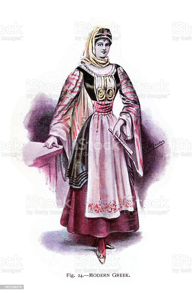 Greek Costume royalty-free greek costume stock vector art & more images of 19th century